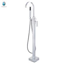 Grifo montado en el piso independiente europeo del diseño simple para la bañera