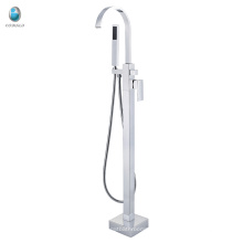 European simple design freestanding floor mounted faucet for bathtub