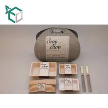Fsat Delivery Wholesale Custom Offset Printing Paquete de empaquetado de papel de comida rápida Set para llevar