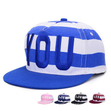Fashion Striped Embroidered Cotton Twill Baseball Sports Trukfit Cap (YKY3359)