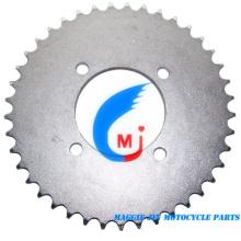 Piñón trasero de piezas de motocicleta para motocicleta Yb100