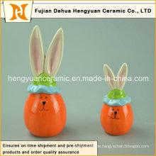 Reizendes Karikatur-keramisches dekoratives Ostern-Kaninchen