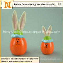 Lovely Cartoon Ceramic Decorative Easter Rabbit