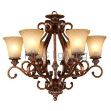 decoration steel pendant lamps glass shade ceiling chandeliers