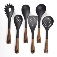 heat-resistant plastic kitchen accessories wooden utensils