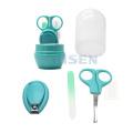 regalo para bebés y niños pequeños manicura pedicura juego de aseo cortaúñas para bebés tijeras para bebés con mango de plástico