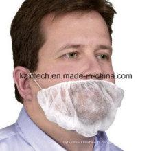 Couvercle jetable blanche de barbe de pp avec la double boucle d'oreille