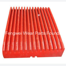 Jaw Crusher Spare Parts High Manganese Steel Metso Toggle Plate