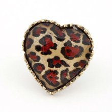 Fashion Vintage Peach Heart Design Finger Rings Jewelry FR99