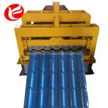Telhado de telha vitrificada rolo formando máquina de fazer