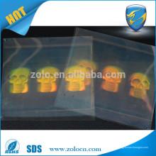 Maravillosa solución Marca Protección estrella de holograma etiqueta de papel