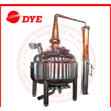 Red Copper Pot Still Distillation Industrial For Low Alcohol Concentration
