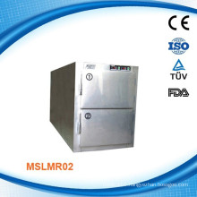 (MSLMR02W)Hot/Cheap one dead bodyCheap two body stainless steel mortuary refrigerator with Danfoss compressor