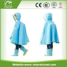 Children Rain Poncho Polyester Pvc Rainwear