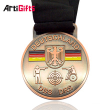 Personalised Paint Antique Bronze Germany Sport Day Medal