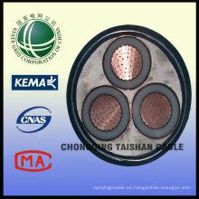 Cables de la rejilla 10kV 3 * 300mm2 del estado para el cable de la CC del PV