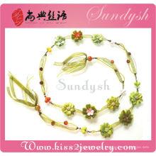 Floral imitação de flores artesanais cintos de flores camisola cadeia