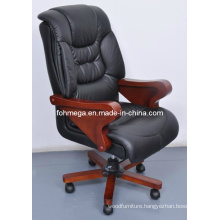 Black Leather Executive Office Chair for CEO (FOH-B8013)