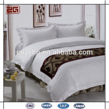 Écharpe de lit en polyester polyester 100% 100% hôtel cinq étoiles