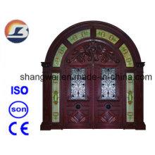 Puerta de madera maciza Meranti exterior