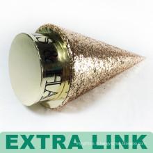 Chine Cône circulaire de luxe fait sur commande de carton de logo de Bling fournisseurs empaquetant la boîte ronde avec l'éponge