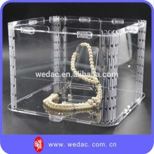 2015 Modern acrylic jewelry box for jewelry shop or home use