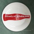 modern decal ceramic white plate