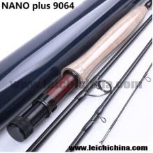 Canne à pêche à la mouche en fibre de carbone Nano Plus 9 FT 6wt