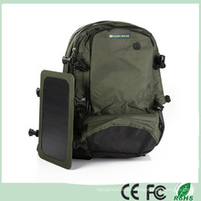 Green Outdoor Solar Backpack Solar Charger Back Pack Bag with Removable Solar Panel for Cell Phones / 5V Devices (SB-168)