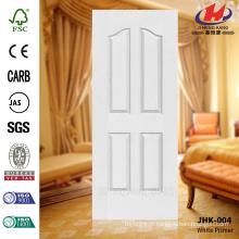 JHK-004 CE Certicicate Panneau de porte d'imprimerie blanc de calibre de montagne de 4 panneaux avec haute qualité