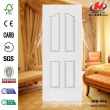 JHK-004 CE Certicicate 4 panel model mountain grain white primer door panel with high quality