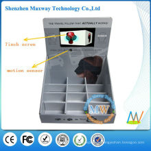 7-Zoll-LCD-Bildschirm Karton Werbung Boden Display mit Bewegungssensor