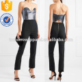 Lúrex sin tirantes y Crepe Jumpsuit Manufacture Wholesale Fashion Women Apparel (TA3001J)