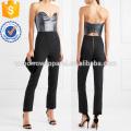 Strapless Lurex and Crepe Jumpsuit Manufacture Wholesale Fashion Women Apparel (TA3001J)