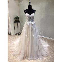 Moda Vestido De Renda A Linha Evening Vestido De Noiva Vestidos De Noiva