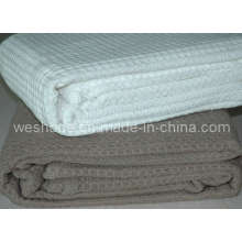 100% мягких синель вафельные одеяло
