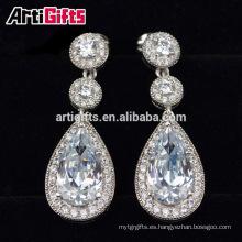 2016 Top High Quality Cubic Zirconia Diamond Drop shape Bridal Earrings For Women