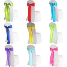 2018 European American elegant fashion wedding hotel party satin long ribbon tie chair sash