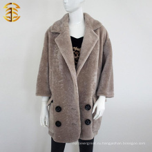 2017 Фабрика оптовых обычай женщин реальных пальто средней длины шубы