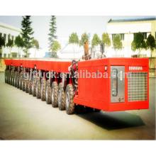 Cargamento 100-600T que carga el acoplado modular del transportador pesado del astillero autopropulsado