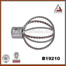 Stick Vorhang / Hohlkugel Form Vorhang Finials / Vorhang Stange Ringe 25 / 28mm