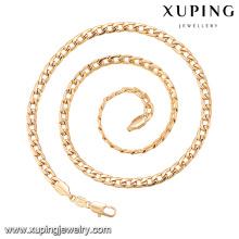 43572 dernières créations de chaînes en or pour hommes à la mode, délicat collier de bijoux plaqué or 22 grammes
