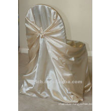 self-tie back chair cover,CT338 satin chair cover,universal chair cover