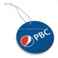 Promotional car air freshener with logo printed - circle