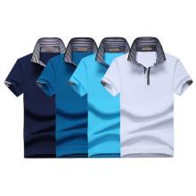 Männer 3D Stickerei Single Jersey Stoff Benutzerdefinierte 180GSM 97 Baumwolle 3 Spandex Polo T-Shirt