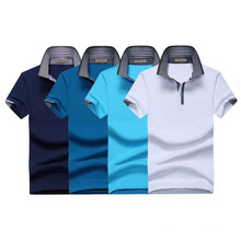 Men′s 3D Embroidery Single Jersey Fabric Custom 180GSM 97 Cotton 3 Spandex Polo T Shirt