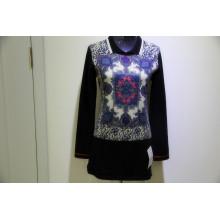 Pull imprimé 100% cachemire tricoté de haute qualité