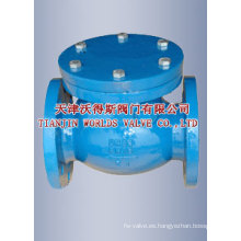 Válvula de retención tipo oscilante de hierro fundido nodular (H44H-16/25)
