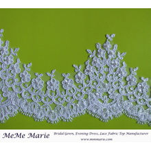 Flowers & Tassels Ivory Pearl Beaded Lace Trim CTCB396B