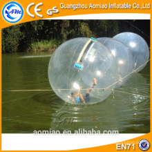 Inflable agua paseo de pelota de alquiler / paseo agua bola piscina / agua válvula de bola